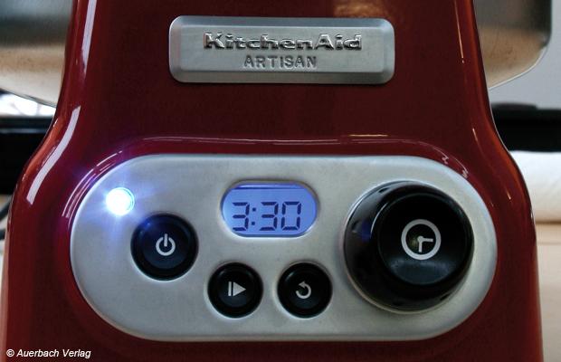 Das digitale Display des Kitchen Aid-Gerätes