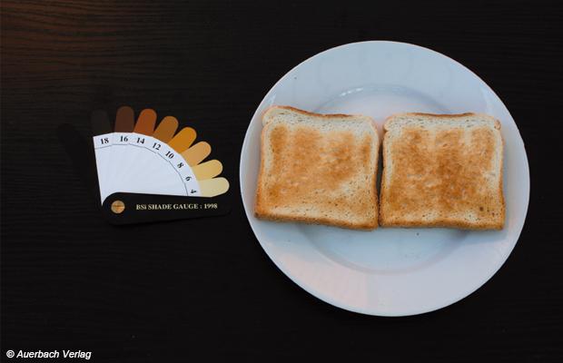 Trotz des weißen Streifens auf den Toastscheiben ist das Toastergebnis völlig in Ordnung