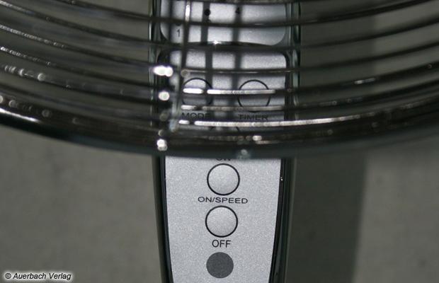 Ungünstig platziert: Beim Fakir VL 45 GF sitzt der Drahtkorb teilweise über dem Bedienpanel und behindert die Sicht auf die Einstellelemente