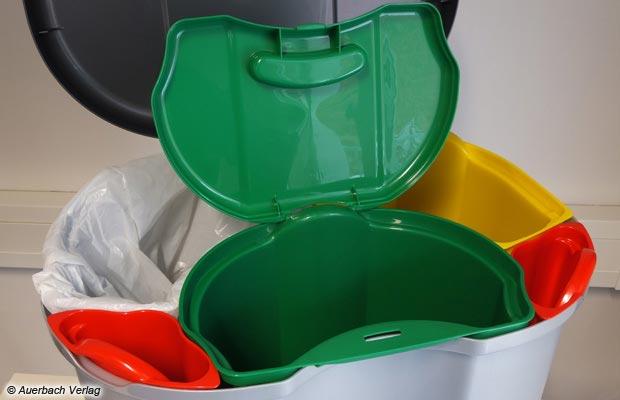 So mancher Abfallsammler ist ein echter Mülltrennprofi: Gleich 5 separate Einsätze erlauben das gezielte Sortieren des Abfalls