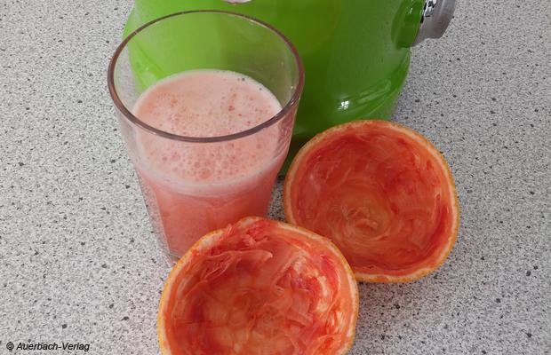 Selbiges gilt auch für Grapefruits, die dank des Citromax®-Presskegels ohne Kraftaufwand sehr gut ausgepresst werden können
