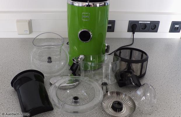 Imponierende Teilevielfalt: Die hohe Modularität erlaubt eine gründliche Reinigung, die Kunststoffteile können beruhigt in den Geschirrspüler