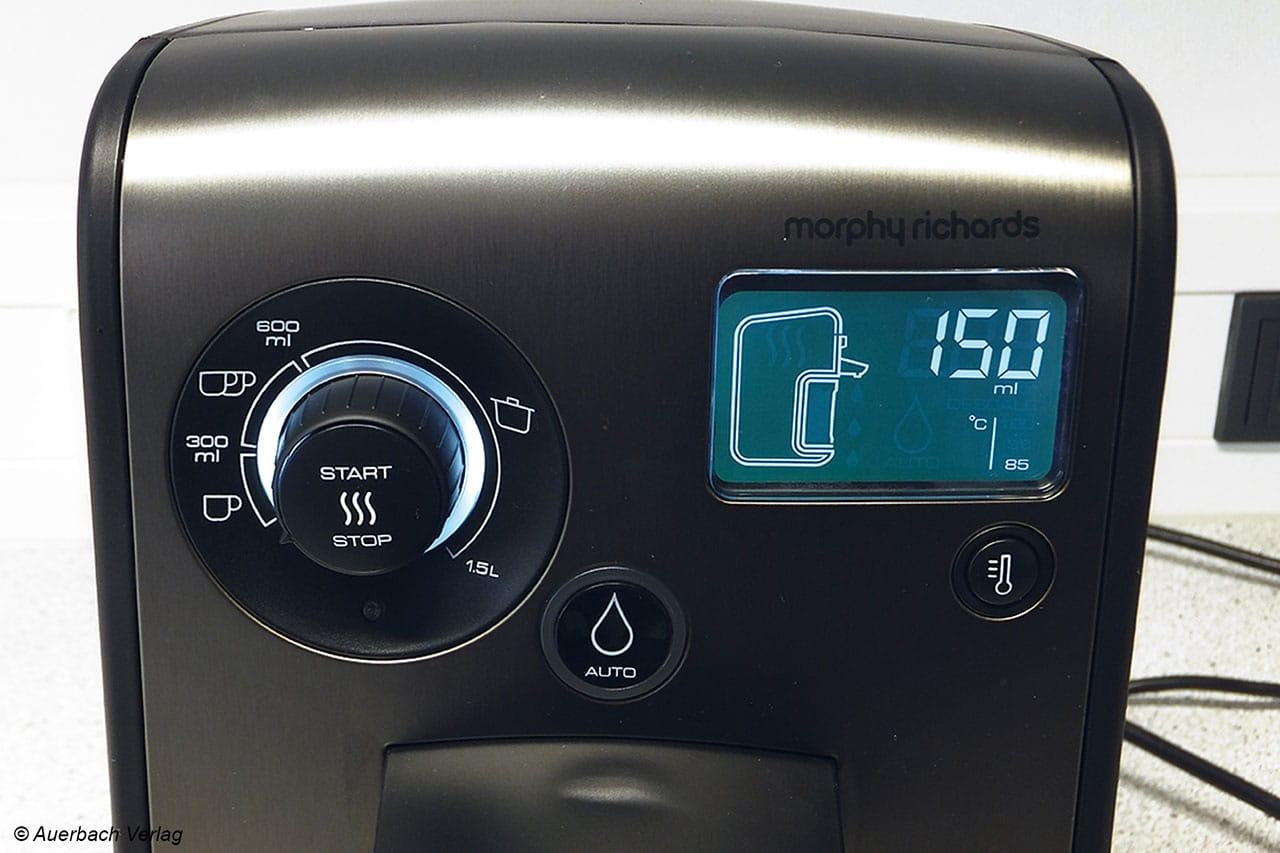 Optionsvielfalt im edlen Design: Der HWD13100 setzt auf ein großes, leichtgängiges Drehrad und ein informatives Display