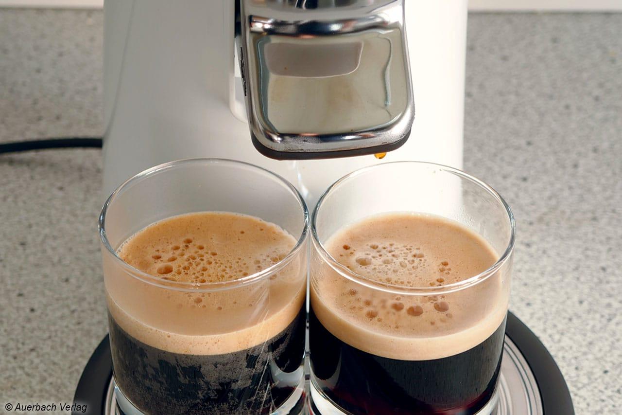 Die Crema bei der Senseo Viva Café HD7829 fällt sehr dürftig aus