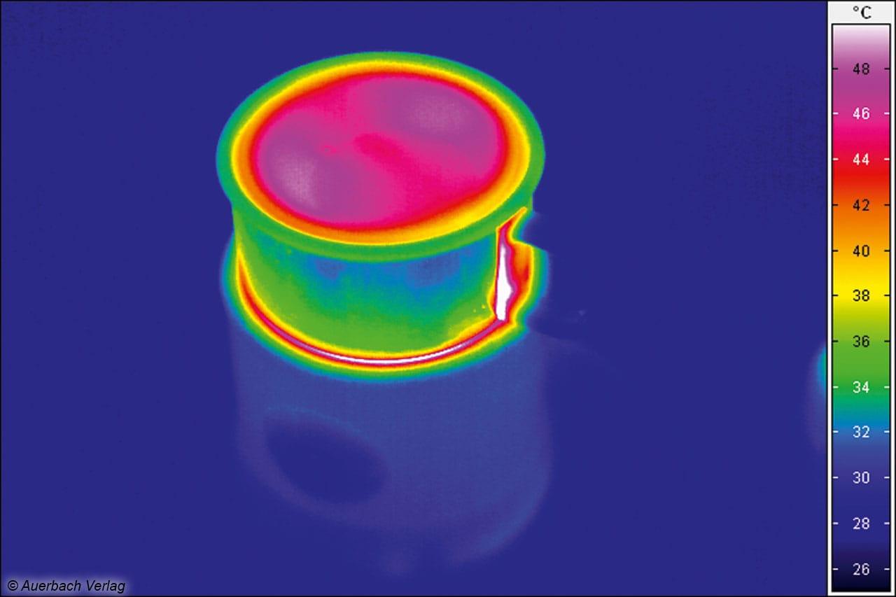 Der Griff an der Milchkanne des SM 3582 ist so gestaltet, dass eine Berührung mit der warmen Kanne verhindert wird
