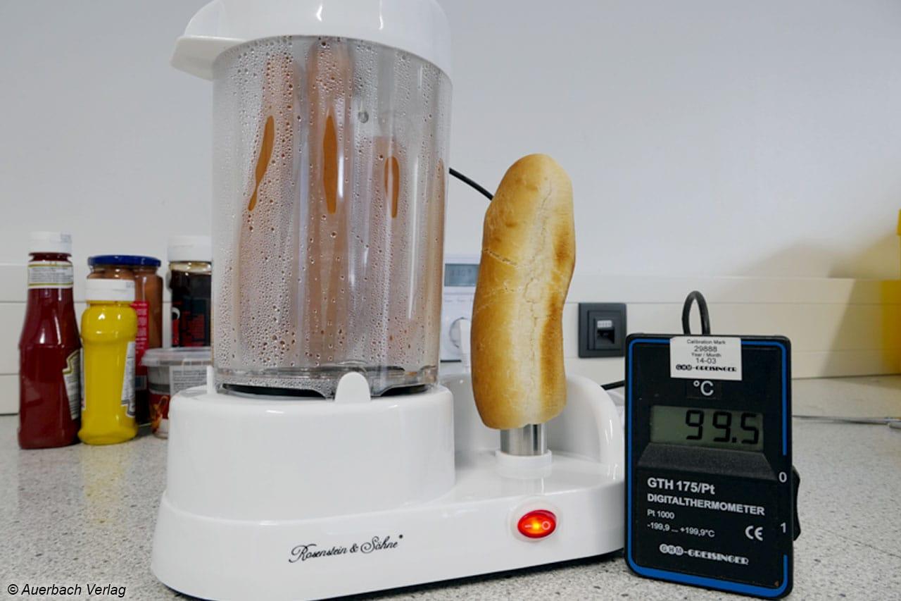 Die Dampfkammer des Hot Dog Makers PE-4774 von Rosenstein & Söhne macht ihren Job perfekt und arbeitet zudem sehr effizient