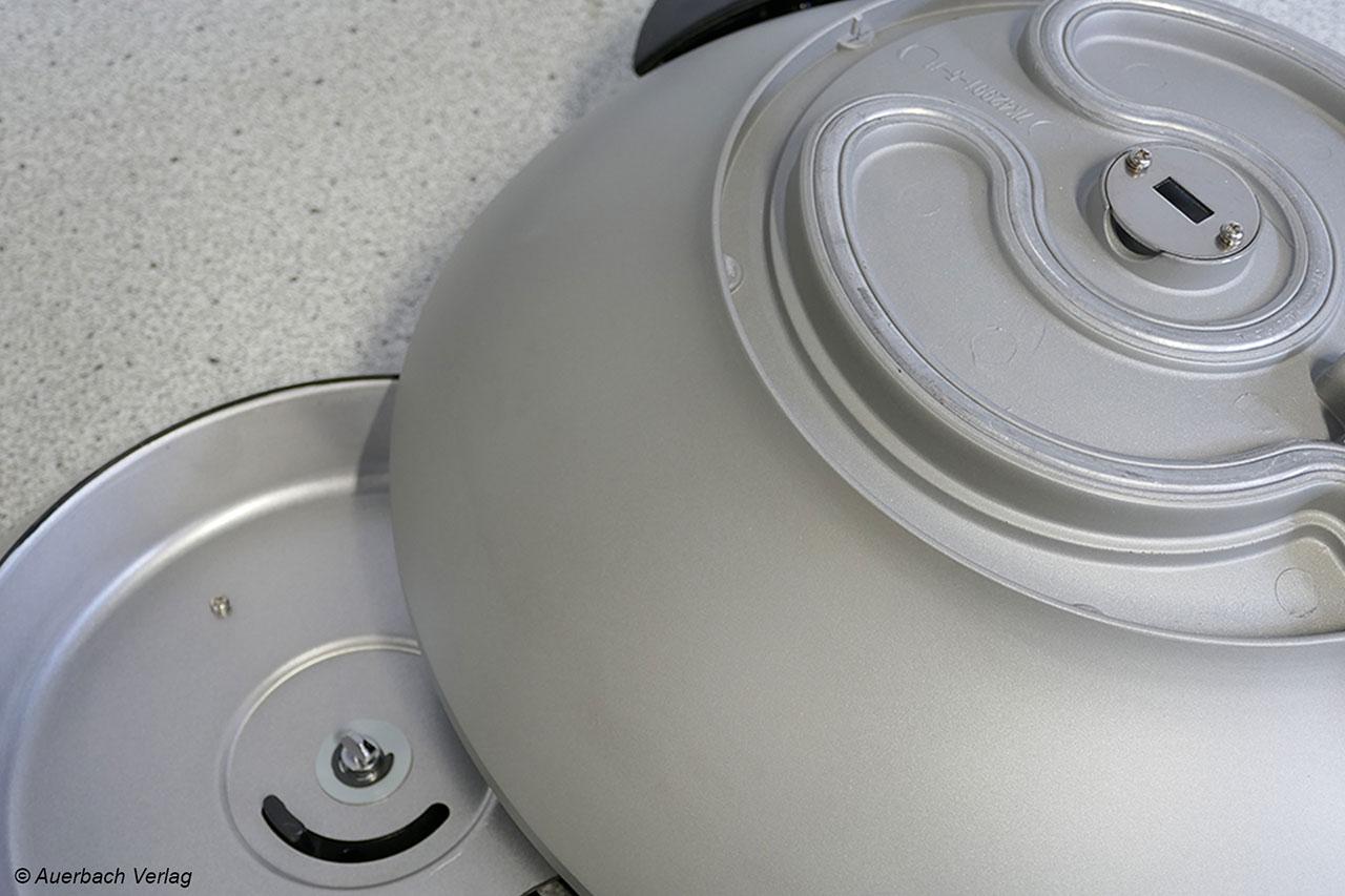 Der Gastroback-Wok lässt sich in zwei Einzelteile zerlegen – gut für die Reinigung und den Transport