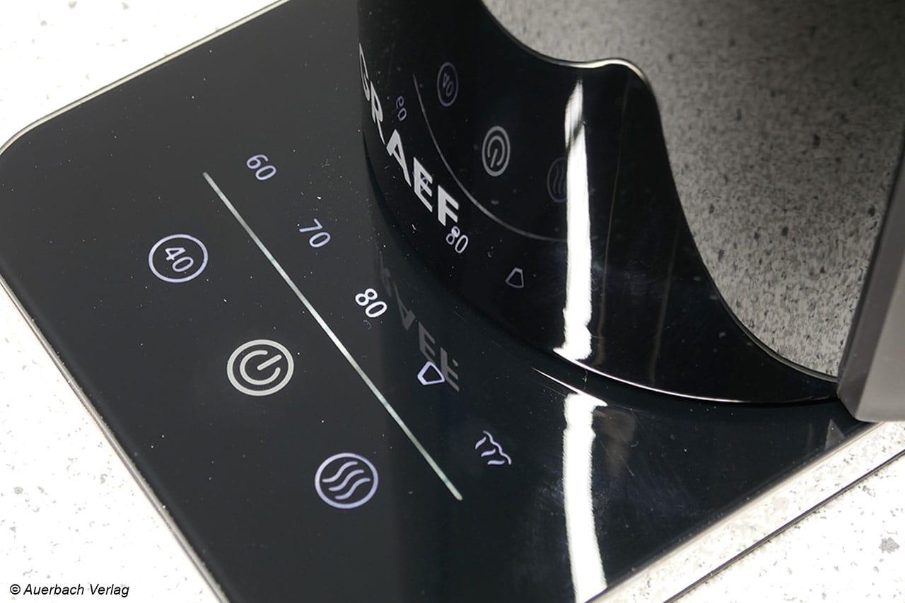 Latenzfrei, wohlstrukturiert und daher sehr einfach zu nutzen: das Touch-Bedienfeld beim WK 501/502 von Graef