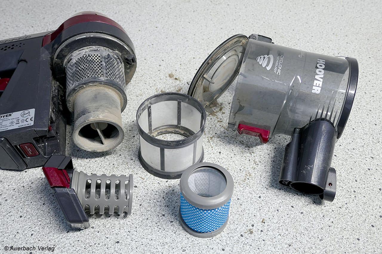 Nach getaner Saugarbeit lässt sich das Handgerät der FD22-Serie schnell zerlegen und gründlich reinigen