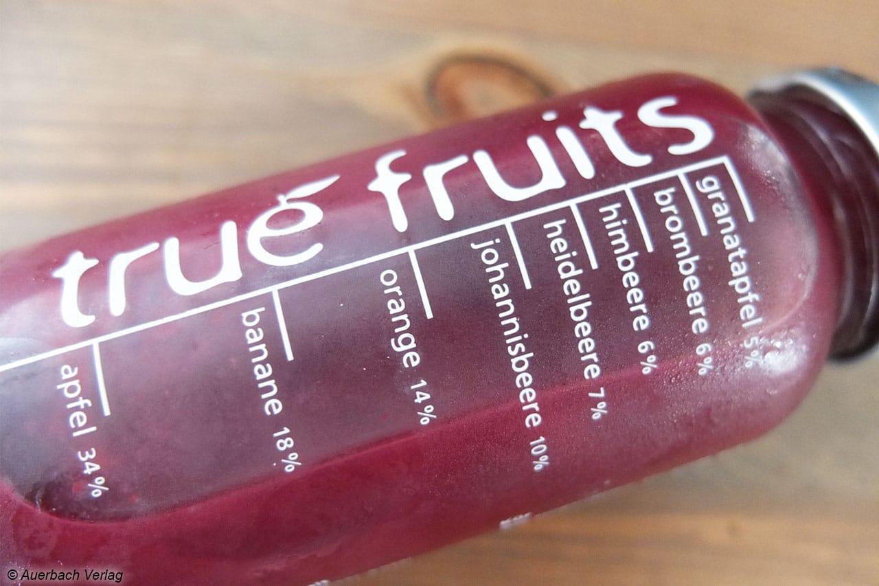 True Fruits setzt auf deutliche Angabe der Zutaten