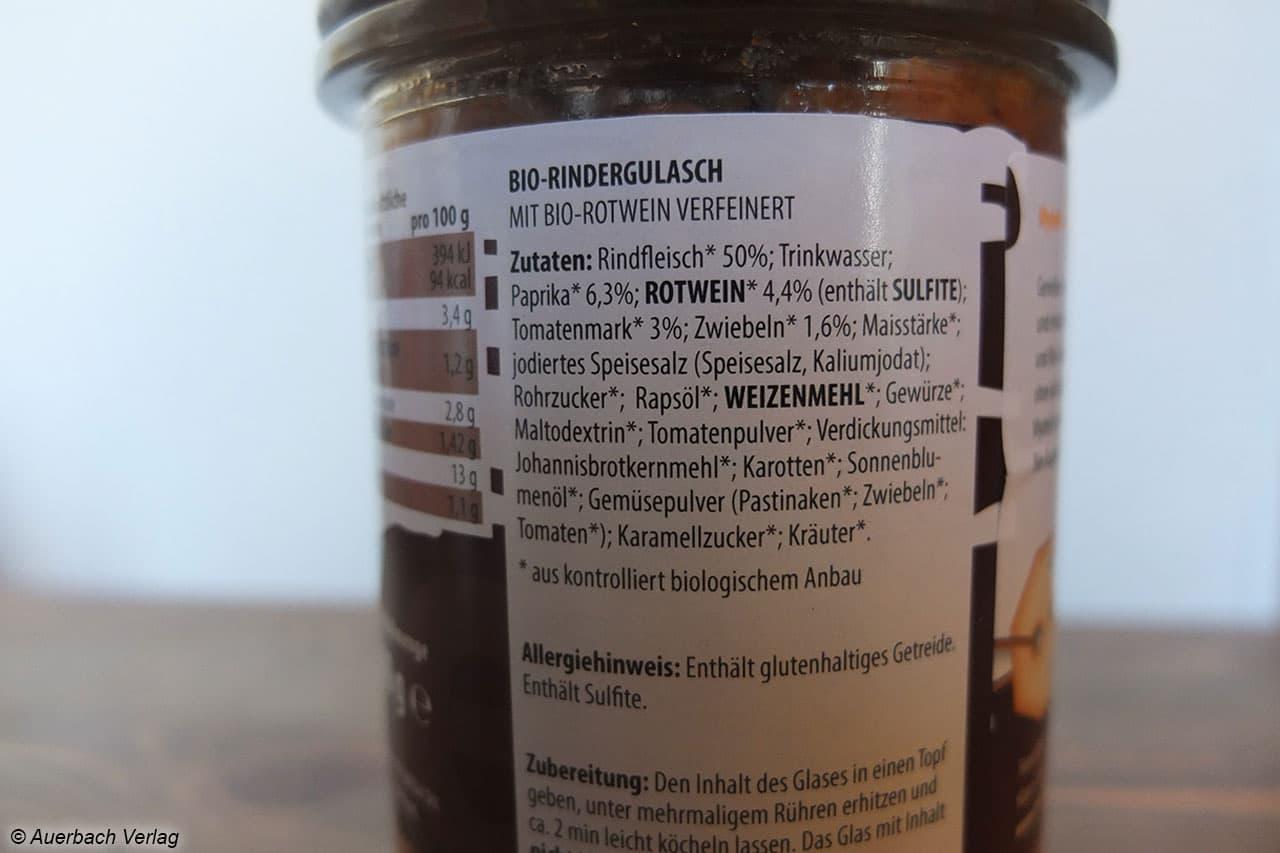 Im Gulasch von My Deli befinden sich laut Herstellerangaben 50% Rindfleisch im Glas