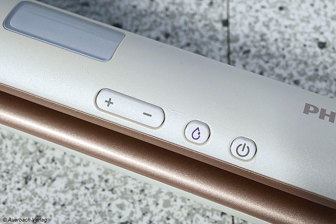 Philips bietet zusätzlich noch eine MoistureProtect-Funktion, die an oder ausgeschaltet werden kann