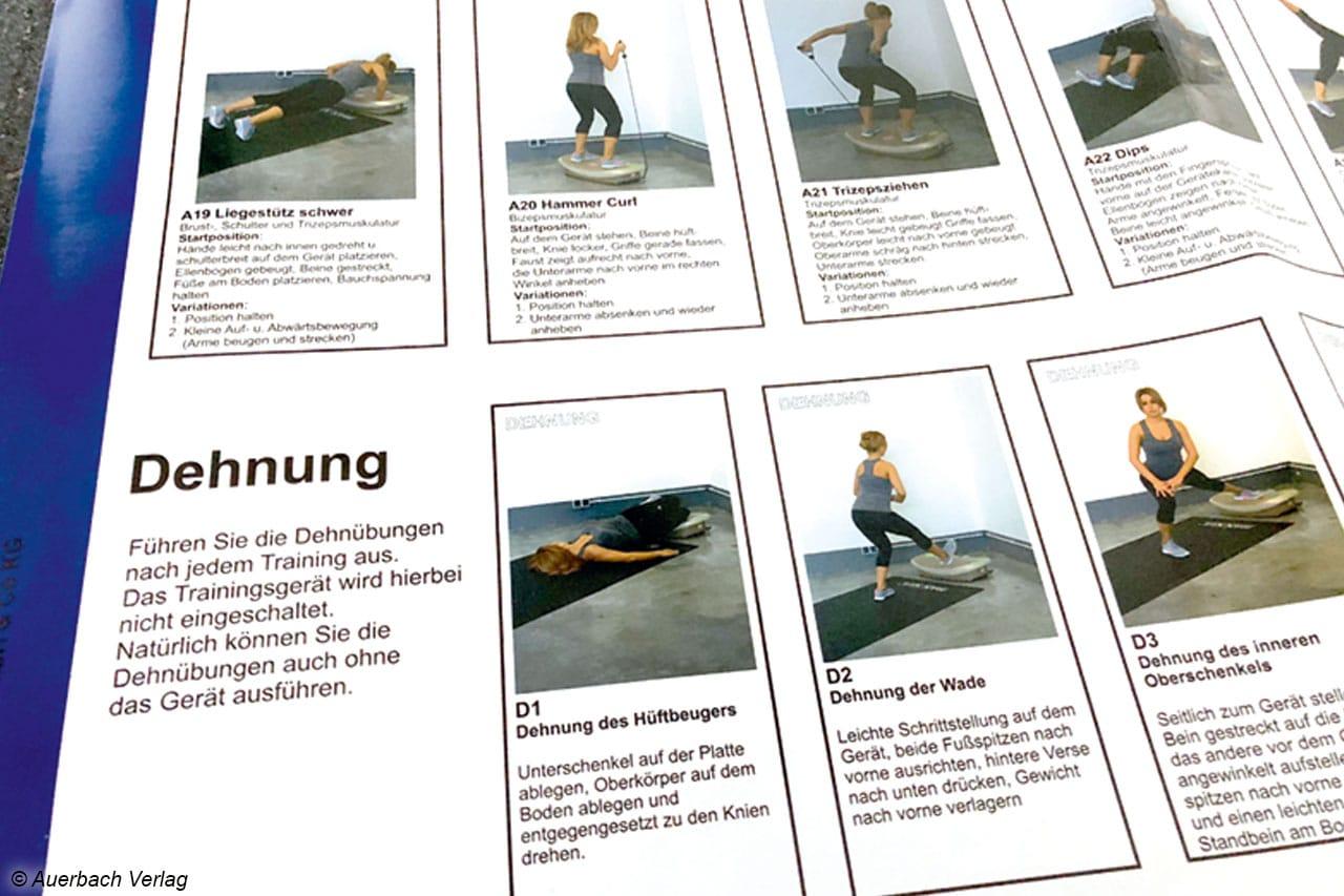 Auf dem beigelegten Übungsplakat werden nicht nur Trainingseinheiten, sondern auch Variationen für die Nutzung des Lifeplate erläutert