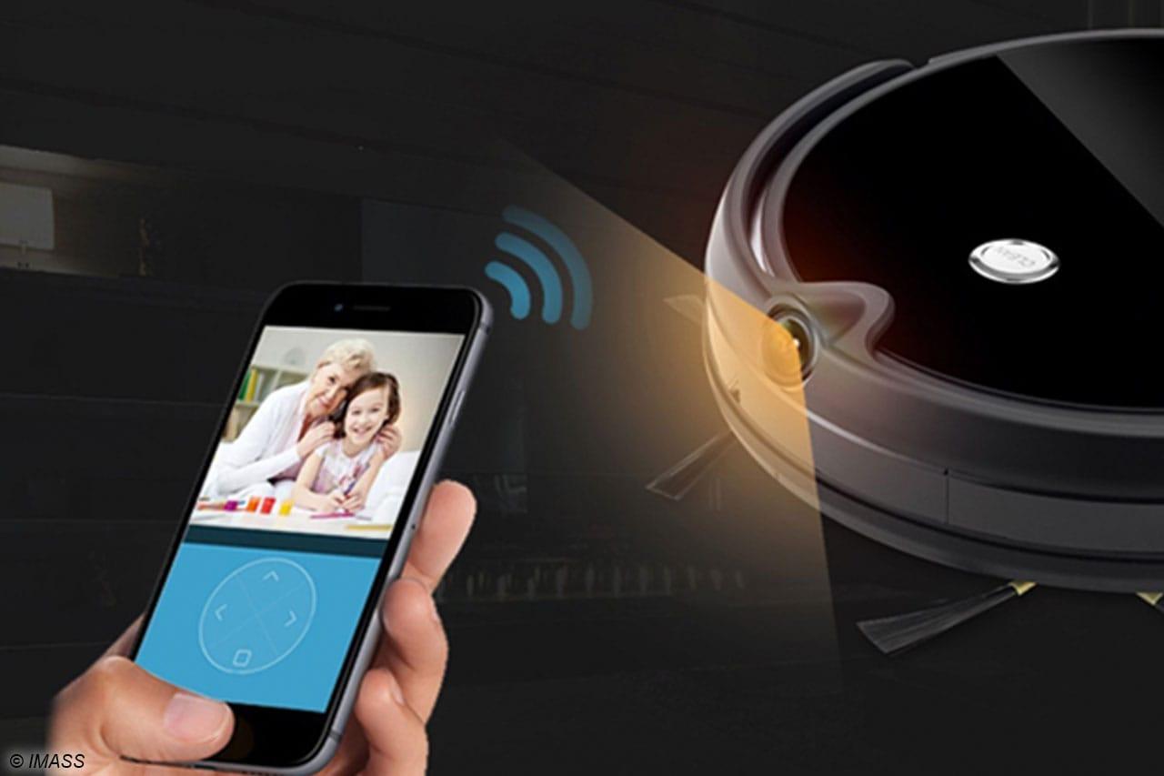 Über die vorhandene Kamera kann der Nutzer auf der App sehen, wo sich der Sauger in der Wohnung gerade befindet