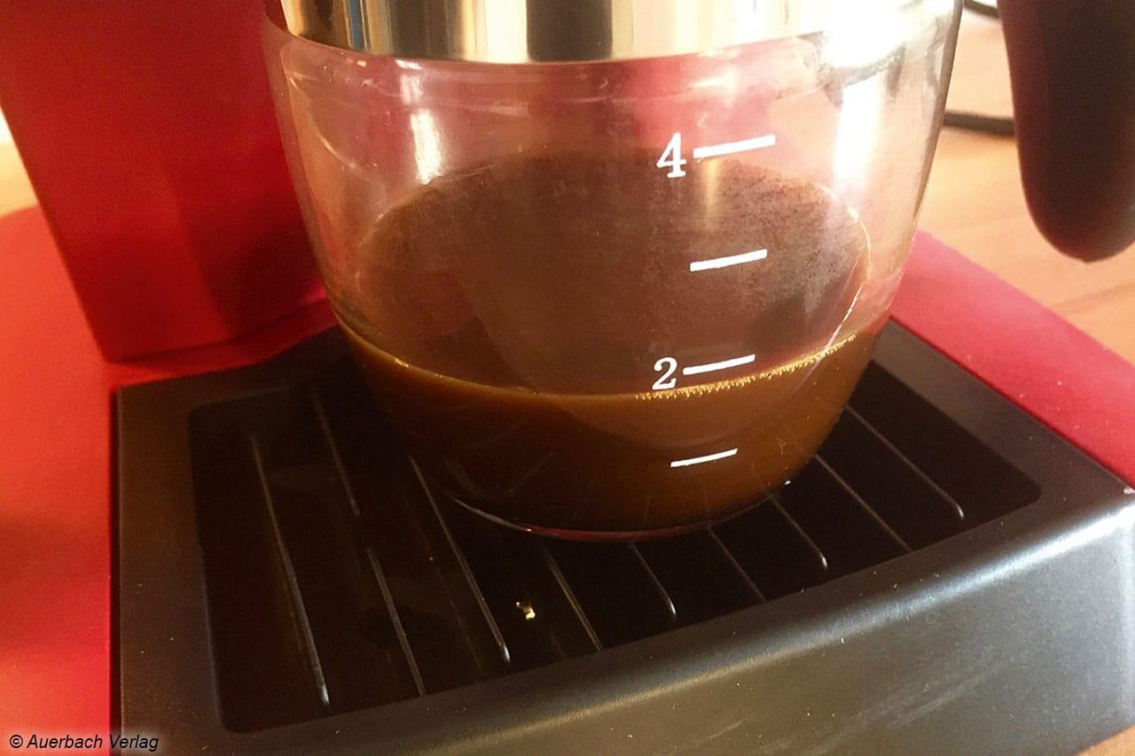 Bildet sich auf dem Espresso keine Crema, ist etwas schief gelaufen, so mit dem Mahlgrad des Kaffeepulvers