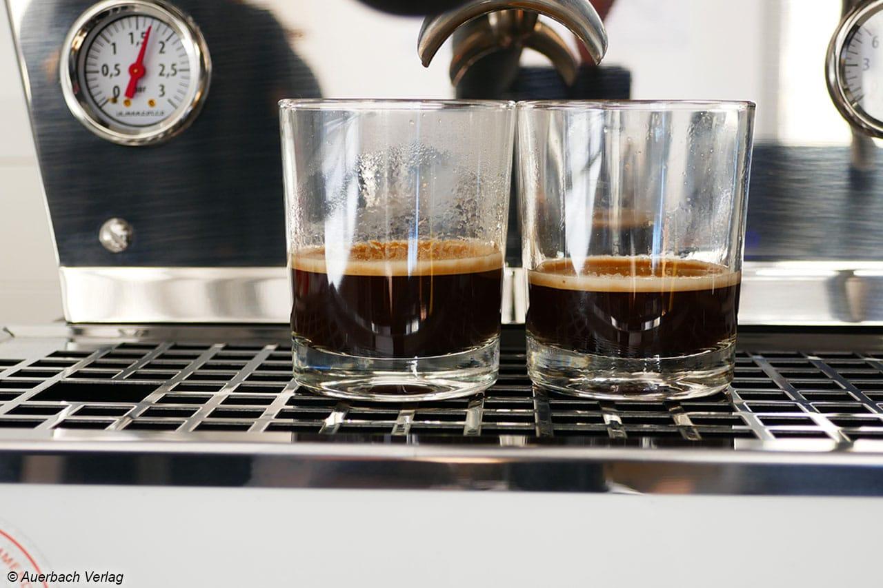 Erst die perfekte Crema macht den Espresso für Kaffeeliebhaber zum Genuss, wie hier beim Getränk aus  der Linea Mini