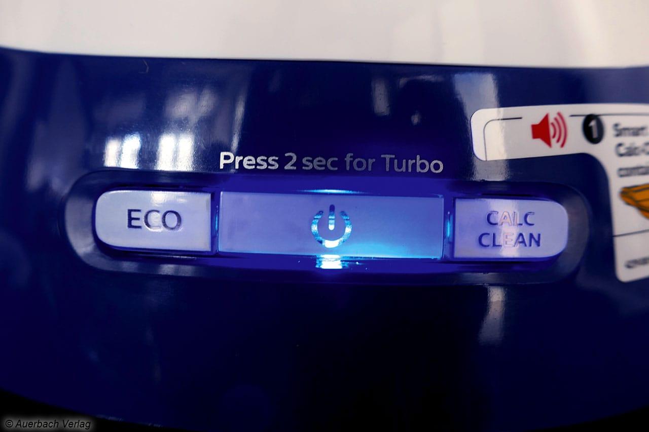 Simpel gestaltet: Das Bedienelement von Philips ist selbsterklärend