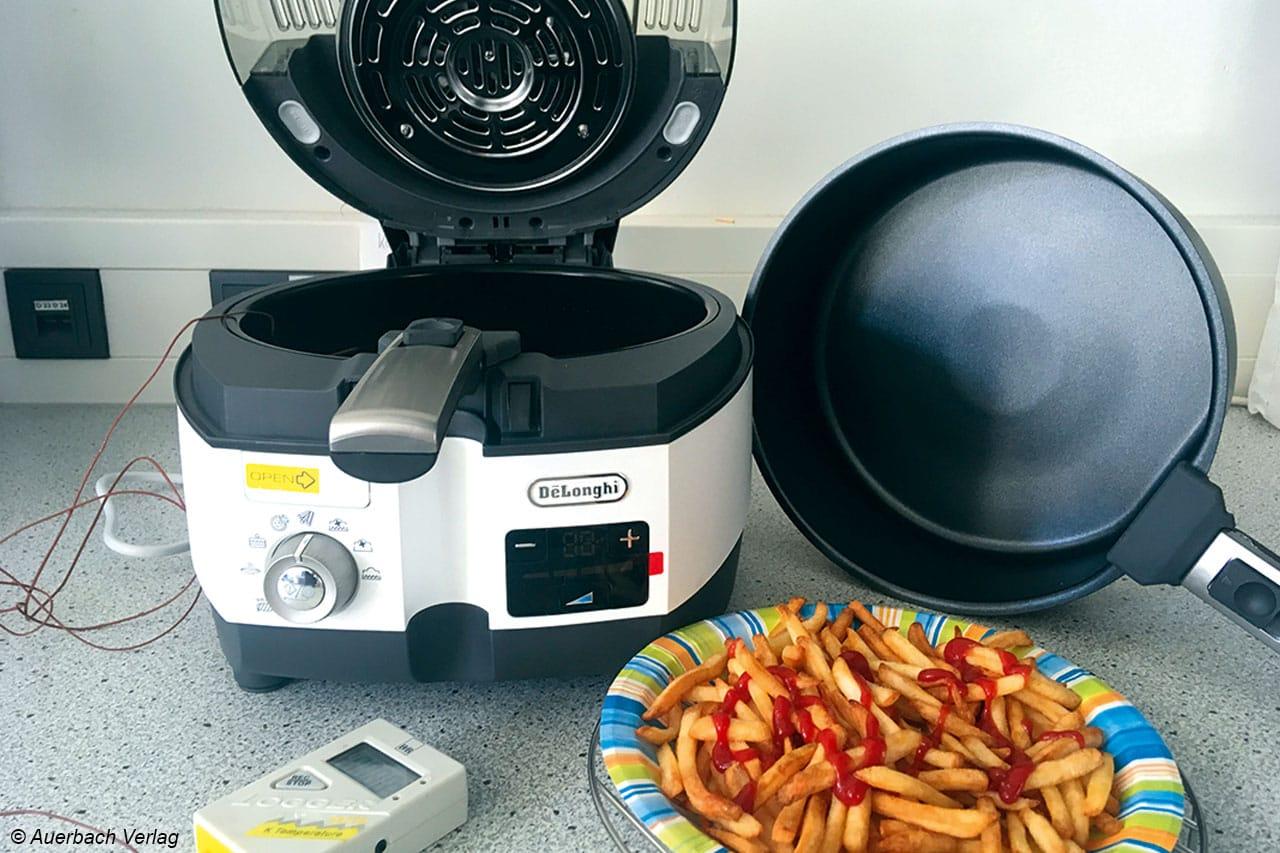 Kartoffelstäbchen oder Kuchen? Der De'Longhi FH 1396 kann jeden plötzlichen Heißhunger sehr schnell stillen