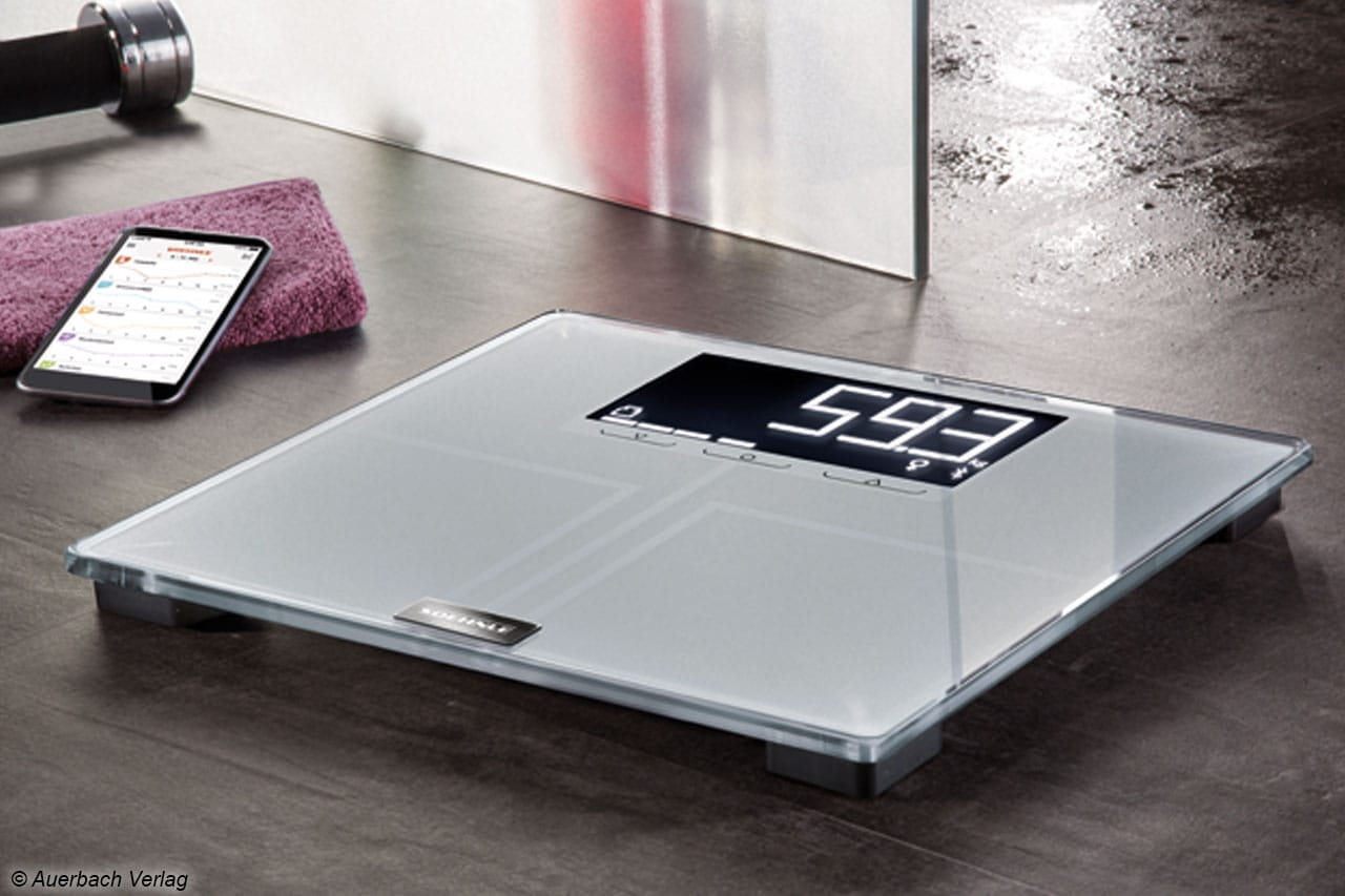 Die digitale Körperfettwaage von Soehnle kann gemeinsam mit der Soehnle Connect-App genutzt werden