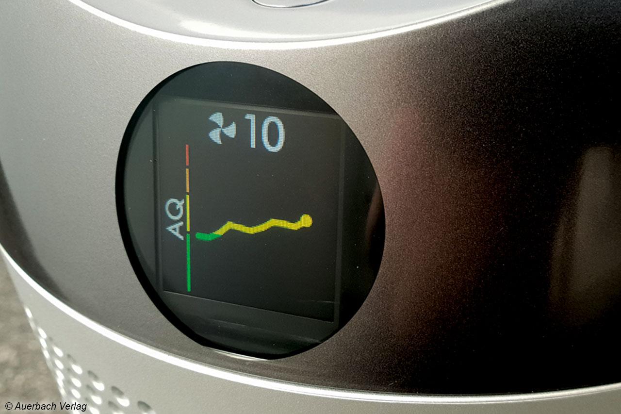 Besonders komfortabel lässt sich die Entwicklung der Luftqualität beim Dyson Pure Cool ablesen