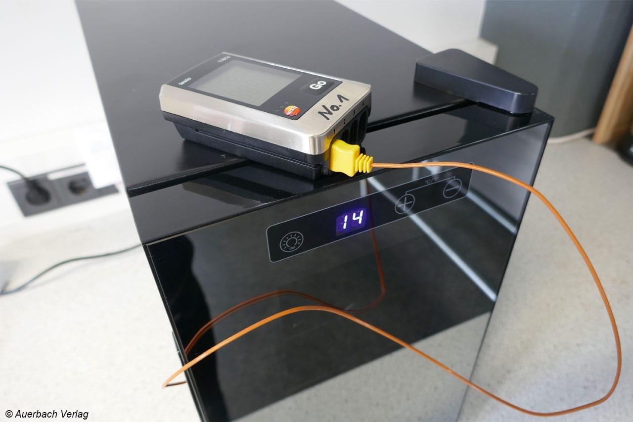Die Messung ergibt eine exakte Temperatureinhaltung