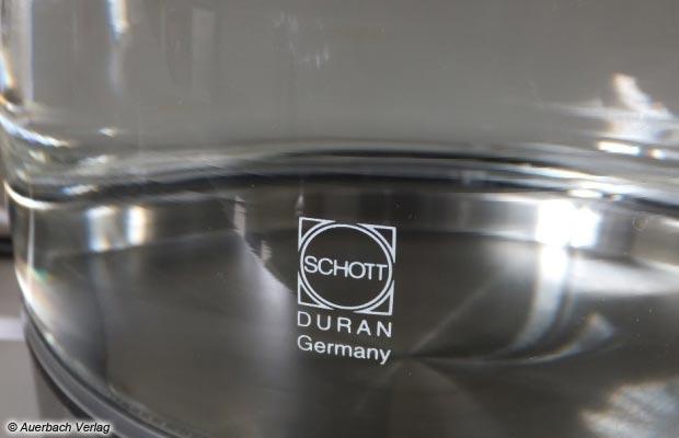 Temperaturwechselbeständiges Glas ist ein Muss für einen Wasserkocher, das Schott-Duran-Glas konnte seine Qualitäten im Test beweisen