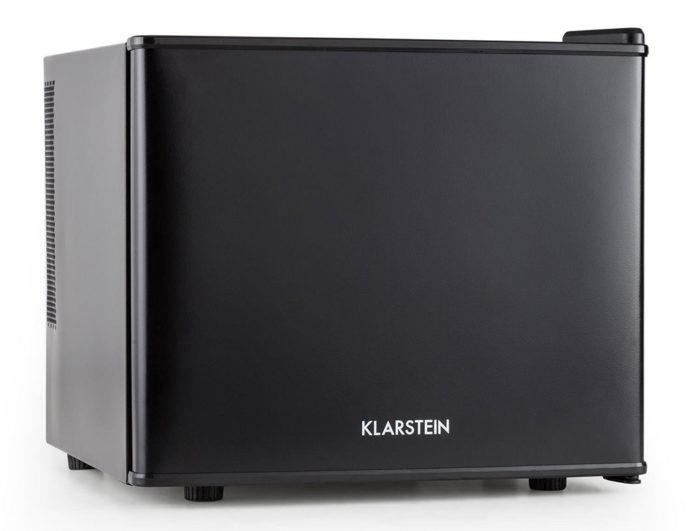 platzsparender Minikühlschrank mit Energieeffizienzklasse A+, 17 Liter Volumen für Getränke oder Snacks, einstellbare Kühltemperatur von 4,5 - 15 °C, niedriges Betriebsgeräusch von 38 dB(A)