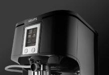 Krups Two-in-One-Touch-Cappuccino EA8808 Kaffeevollautomat in Edelstahl und Schwarz erhältlich