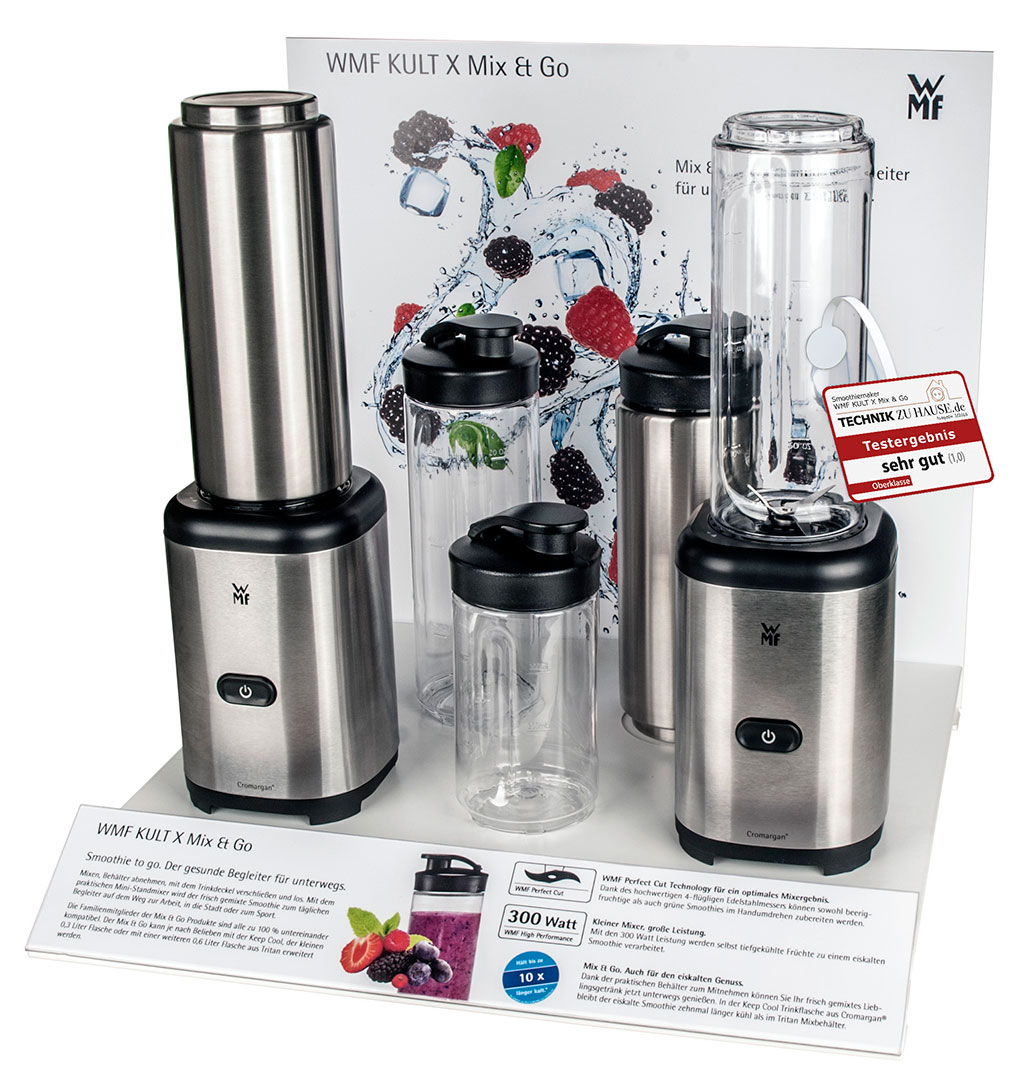 WMF Kult X Mix /& Go Mini Smoothie Maker Blender elektrisch 300 Wa Shake Mixer