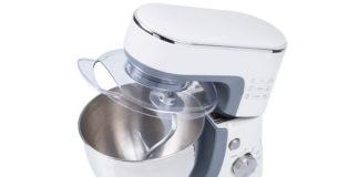 Schöne Küchenmaschine ausgestattet mit 3,5L Edelstahlschüssel, teflonbeschichtetem Knethaken, Schlag- und Rührbesen. Der einfach zu bedienende Geschwindigkeits- und Pulsregler sorgt dafür, dass das planetarische Rührsystem bestens arbeiten kann