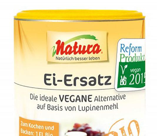 Wenn Sie auf Eier verzichten wollen, ist Natura Bio Ei-Ersatz die ideale vegane Alternative für das ganze Ei