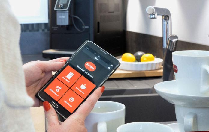 rotierend Nivona CafeRomatica 858/Kaffeemaschine freistehend aus Chrome und Edelstahl vollautomatische Espressomaschine f/ür Kaffeebohnen mit Tasten