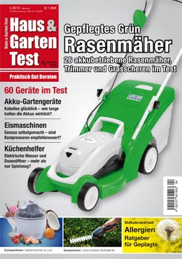ausgabe 4 2013 haus garten test. Black Bedroom Furniture Sets. Home Design Ideas