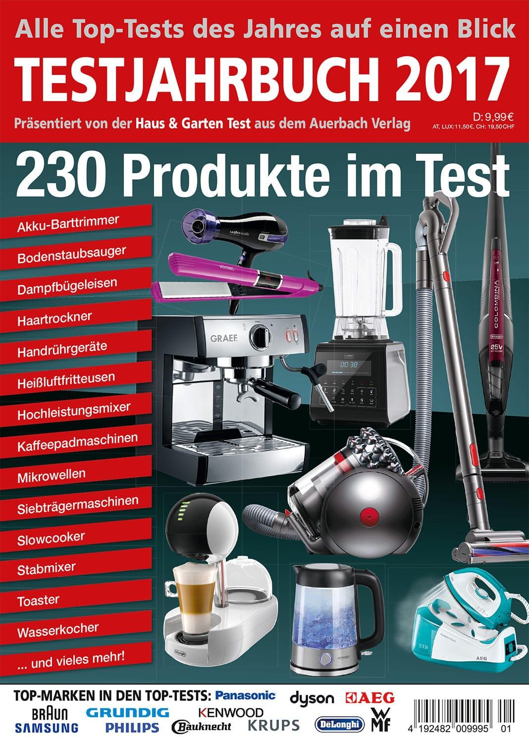 das testjahrbuch 2017 250 produkte im test haus. Black Bedroom Furniture Sets. Home Design Ideas