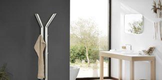 """Handtuchwärmer und Garderobe: Der Heizungshybrid """"Y Tube"""" ist ein Blickfang für Flur, Küche oder Badezimmer"""