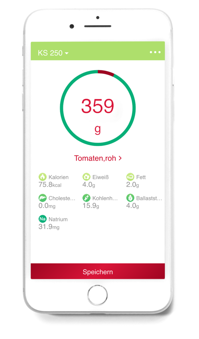 Digitale Kuchenwaage Ks 250 Mit Nahrwerte App Haus Garten Test