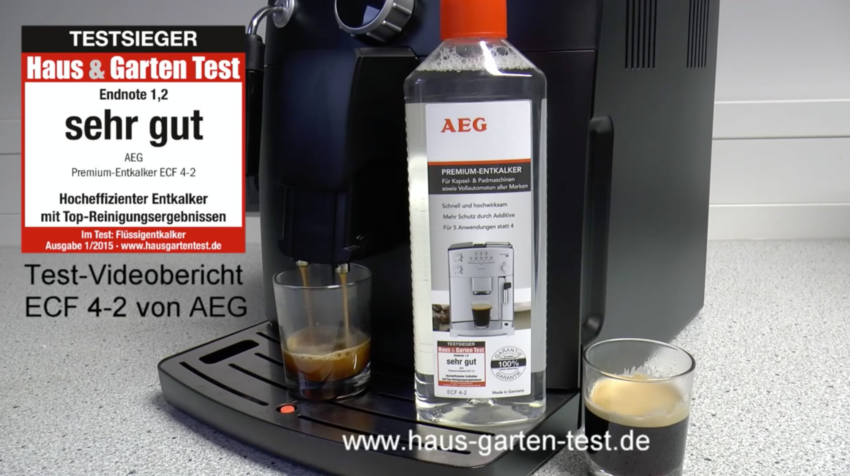 testvideo spezial entkalker ecf 4 2 von aeg haus garten test. Black Bedroom Furniture Sets. Home Design Ideas