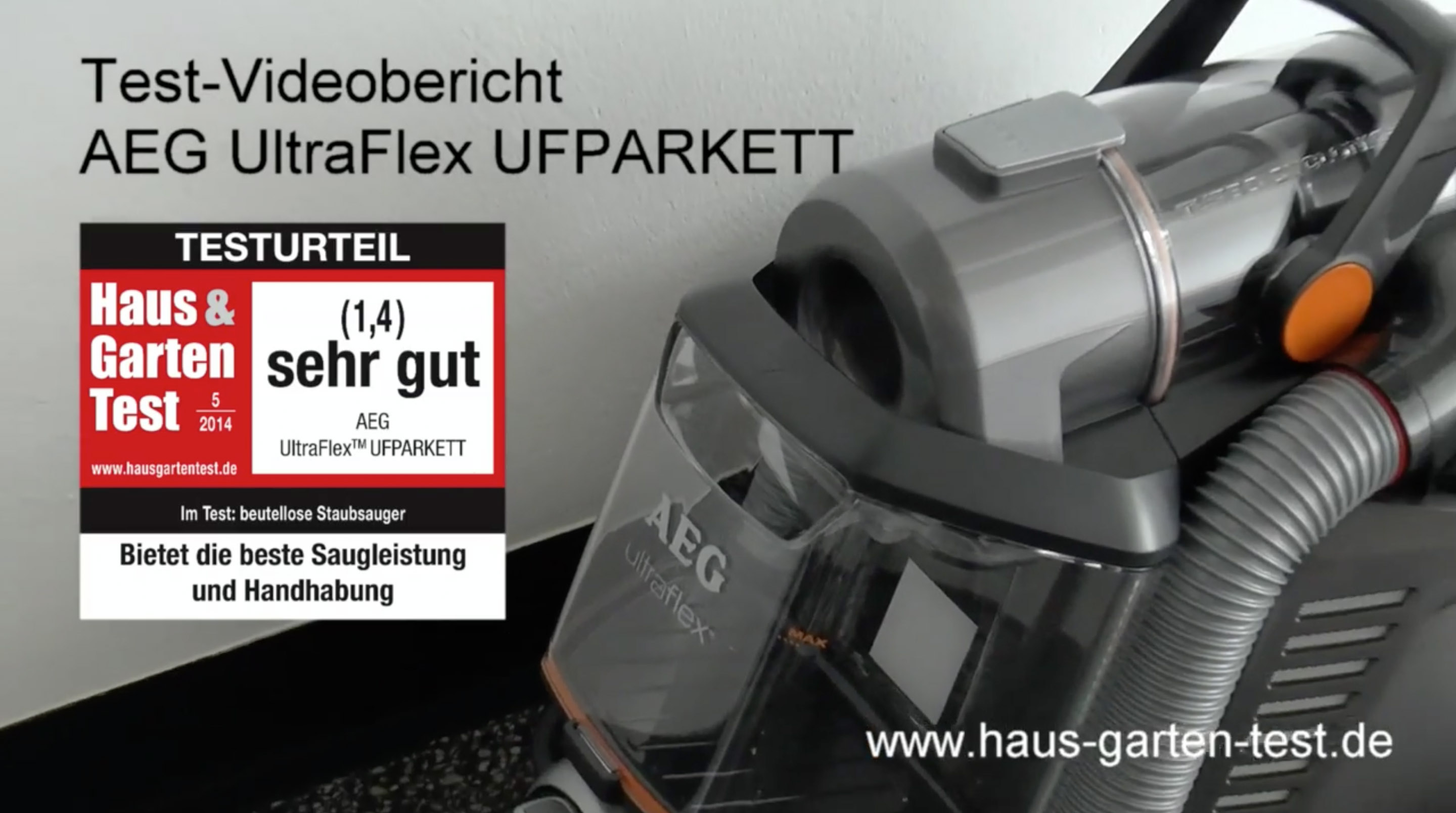 testvideo aeg ultraflex ufparkett haus garten test. Black Bedroom Furniture Sets. Home Design Ideas