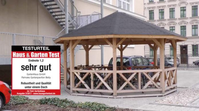testvideo aufbau palmako gartenpavillon betty haus. Black Bedroom Furniture Sets. Home Design Ideas