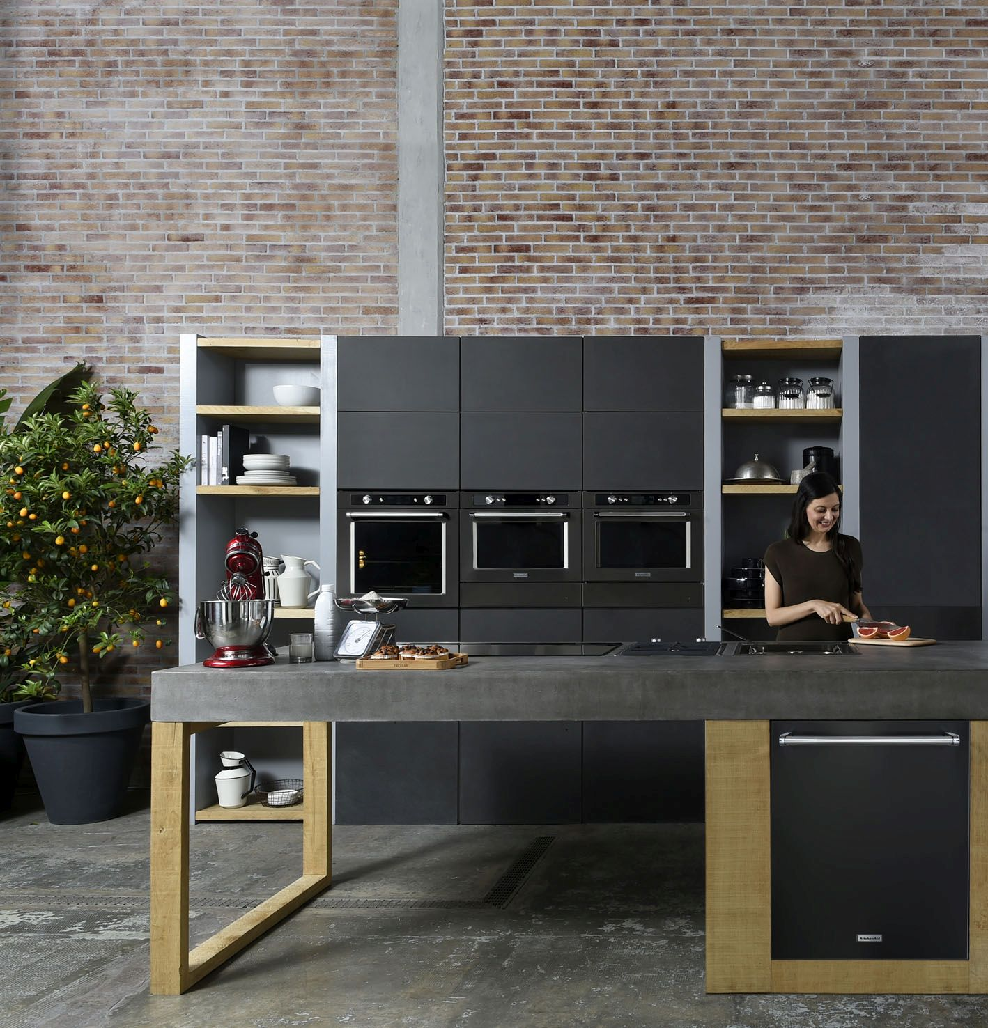 kitchenaid die farbe schwarz in der k che haus garten test. Black Bedroom Furniture Sets. Home Design Ideas