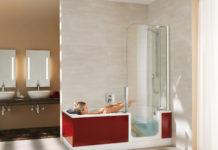 Die komfortable Duschbadewanne Twinline 2 von Artweger vereint Badewanne und Dusche. So entsteht auch in kleinen Bädern bestmöglicher Komfort. Eine extratiefe Wanne erlaubt ausgiebige Vollbäder, der fast bodenebene Einstieg ermöglicht einen komfortablen Zugang in die Dusche und Wanne