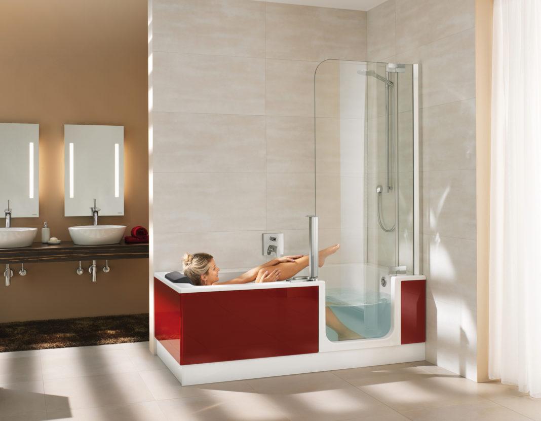 mit der duschbadewanne doppelter komfort huas garten test. Black Bedroom Furniture Sets. Home Design Ideas