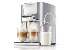 Mit der neuen Senseo Latte Duo Plus von Philips können gleich zwei Kaffeekreationen gleichzeitig zubereitet werden