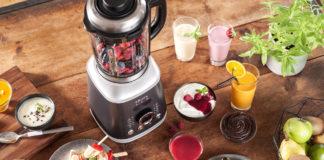 Mit dem neuen Hochleistungsstandmixer Ultrablend Cook von Krups lassen sich neben grünen Smoothies, Shakes sowie Crushed Ice auch Suppen zubereiten und mixen