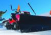 Schneeräumen mit Sabo Rasentraktoren ist schnell erledigt und macht Spaß. © SABO