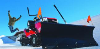 Schneeräumen mit Sabo Rasentraktoren ist schnell erledigt und macht Spaß