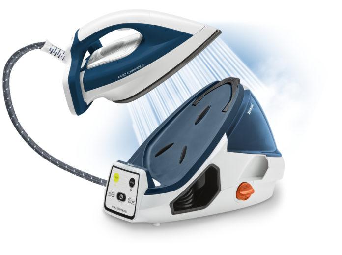 Die Tefal Hochdruck-Dampfbügelstation Pro Express mit exklusiver Smart Technology stimmt Temperatur und Dampfmenge automatisch optimal aufeinander ab