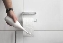 Mit der neuen Po-Dusche HappyPo wird nur noch ein Bruchteil von Klopapier verwendet
