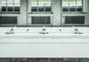Dyson-Händetrockner gibt es auch in der neuen Toilettenanlage der Stiftung Bauhaus Dessau, die mit Airblad Tabs ausgerüstet ist. © Dyson