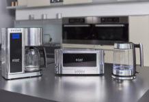 Die neue Frühstücksserie Elegance von Russell Hobbs besteht aus einer digitalen Kaffeemaschine, einem Wasserkocher sowie einem Langschlitz-Toaster
